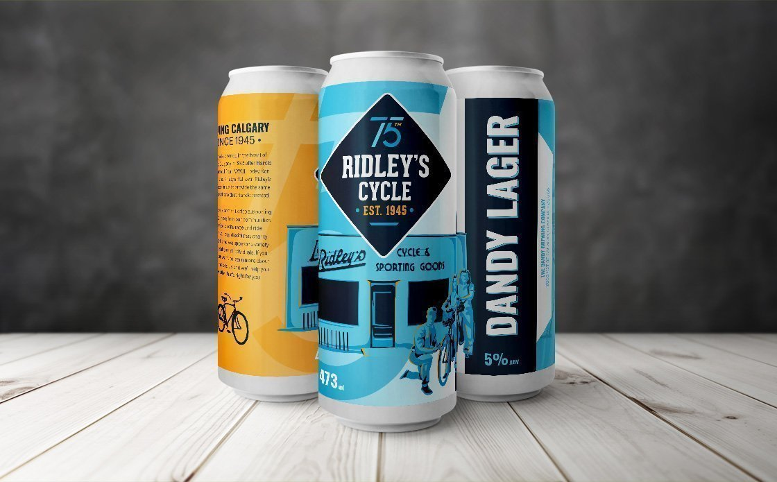 RIDLEY'S CYCLE - 75TH ANNIVERSARY LOGO & PROMOTIONAL PRODUCT