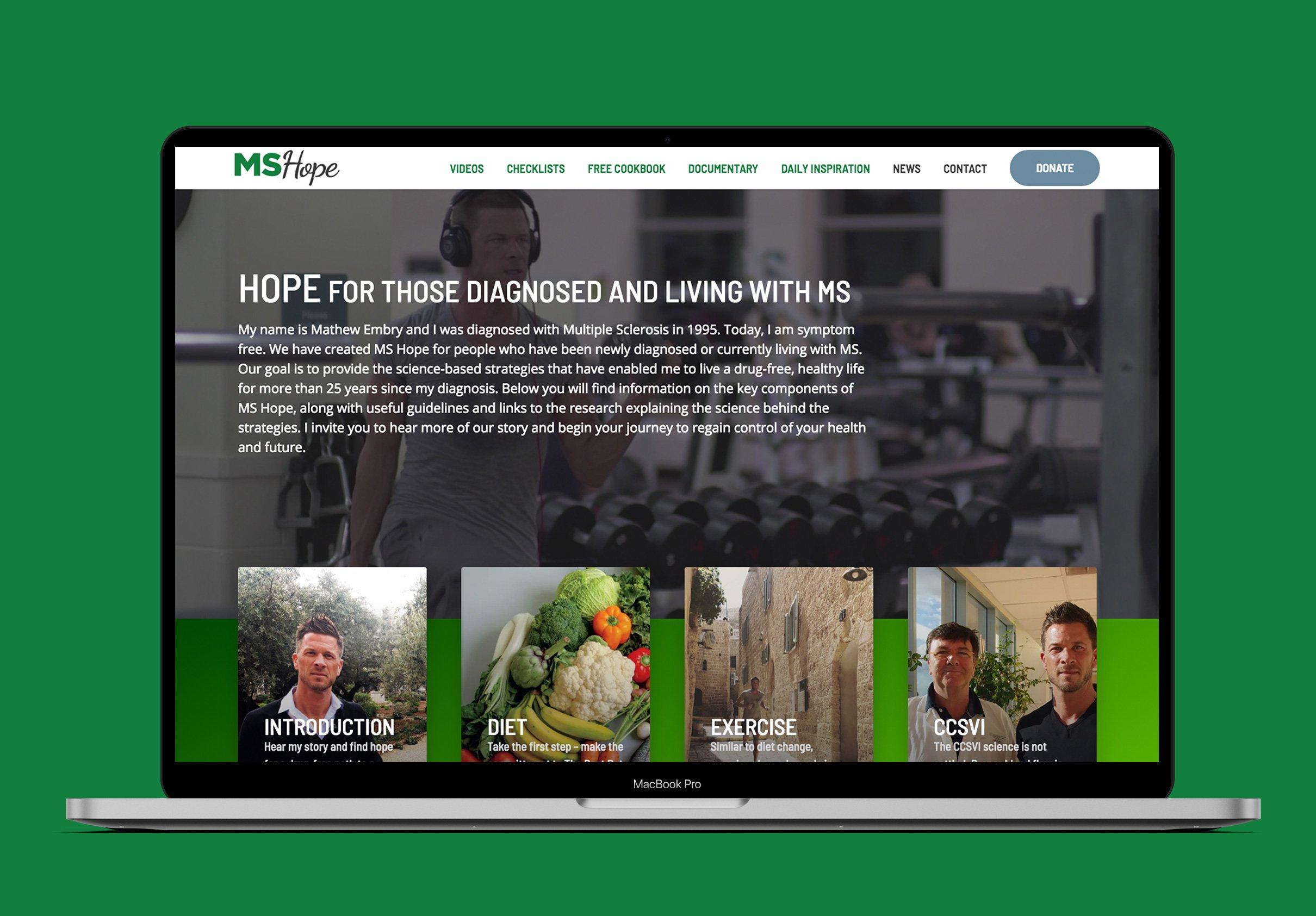 MS HOPE - BRAND IDENTITY & WEBSITE