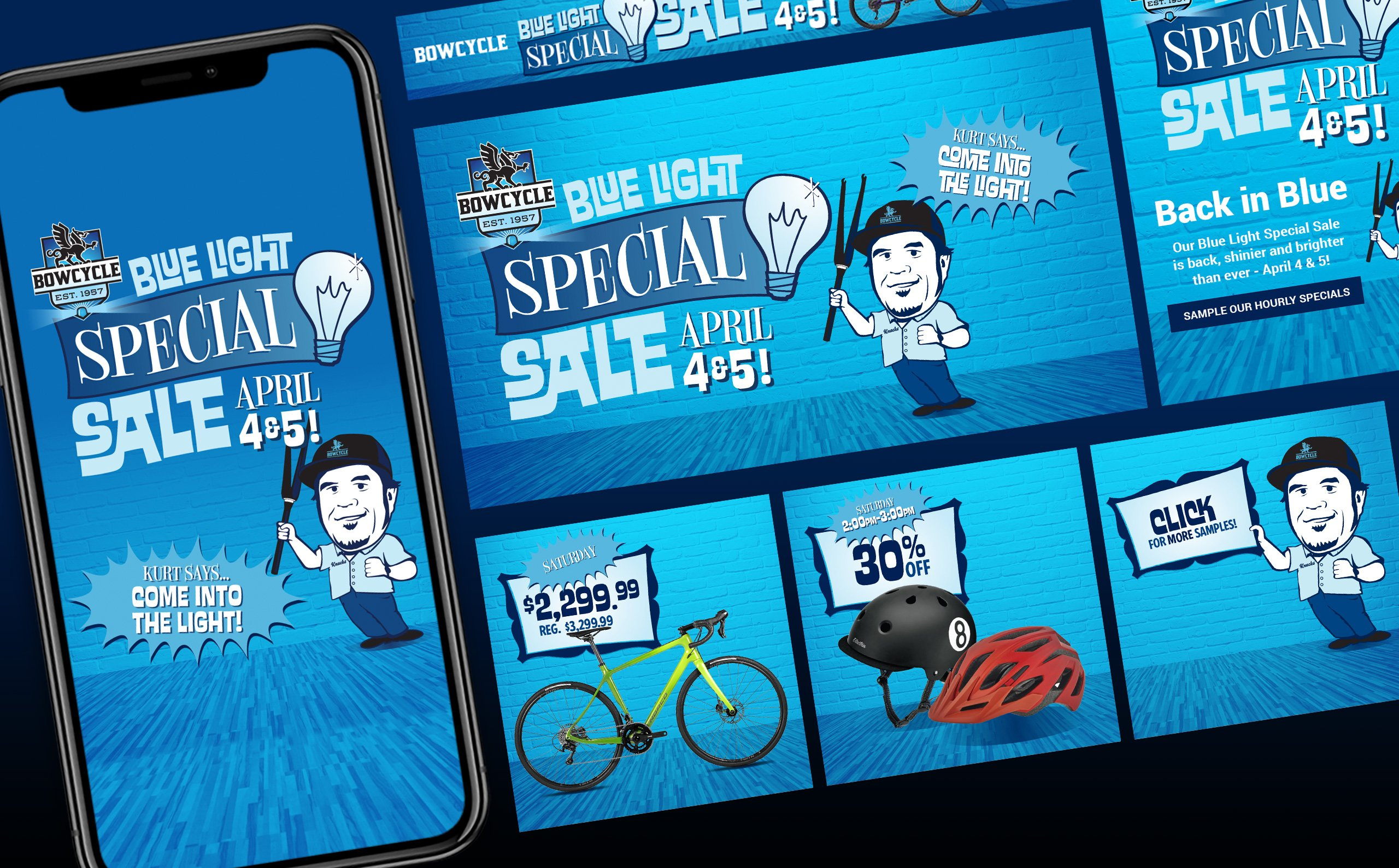 Bow Cycle Blue Light Special - Digital Ads