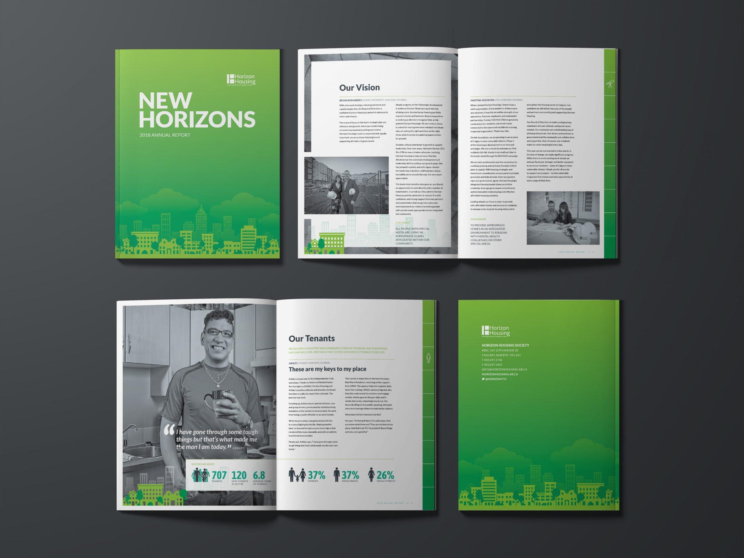 HORIZON HOUSING - ANNUAL REPORT DESIGN