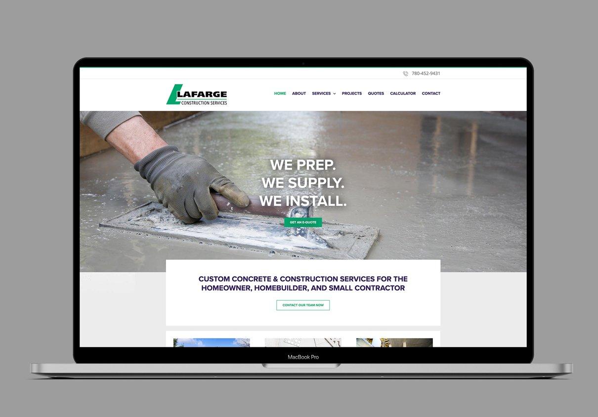 LAFARGE CONSTRUCTION SERVICES - WEBSITE
