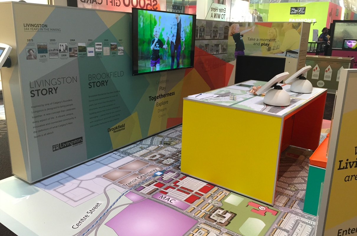 BROOKFIELD RESIDENTIAL - INTERACTIVE COMMUNITY INFORMATION BOOTH CONCEPT AND DESIGN