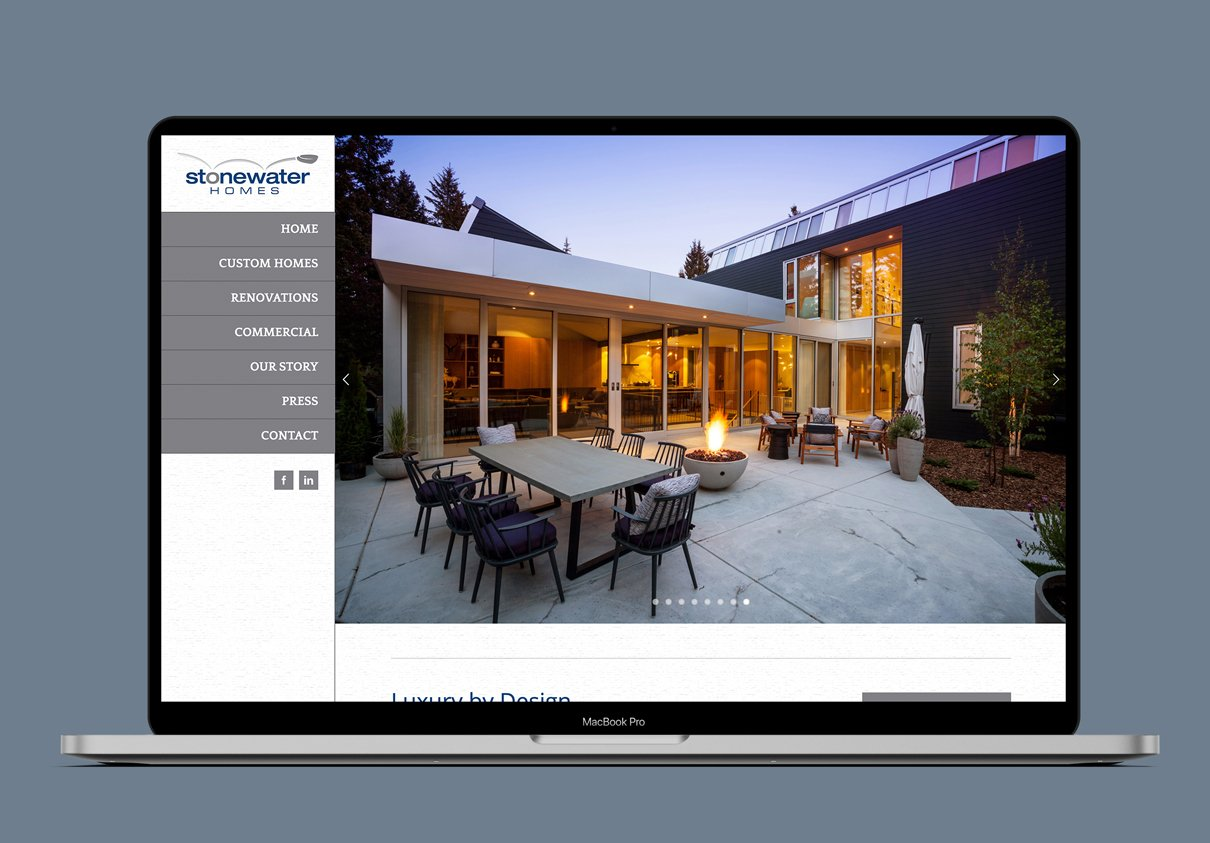STONEWATER HOMES - WEBSITE
