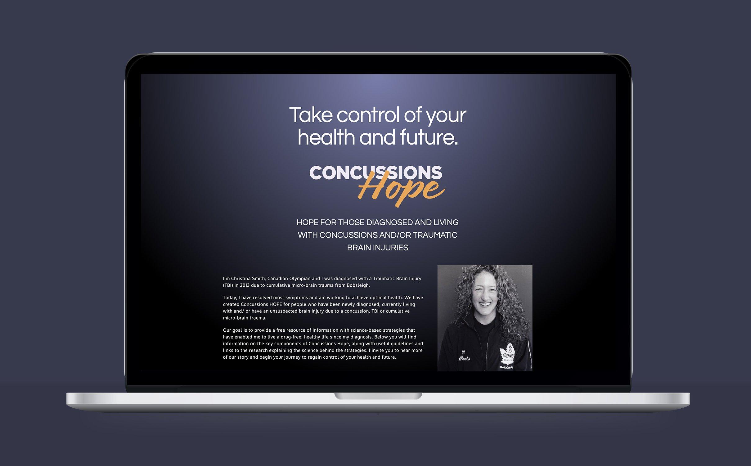 CONCUSSIONS HOPE - WEBSITE
