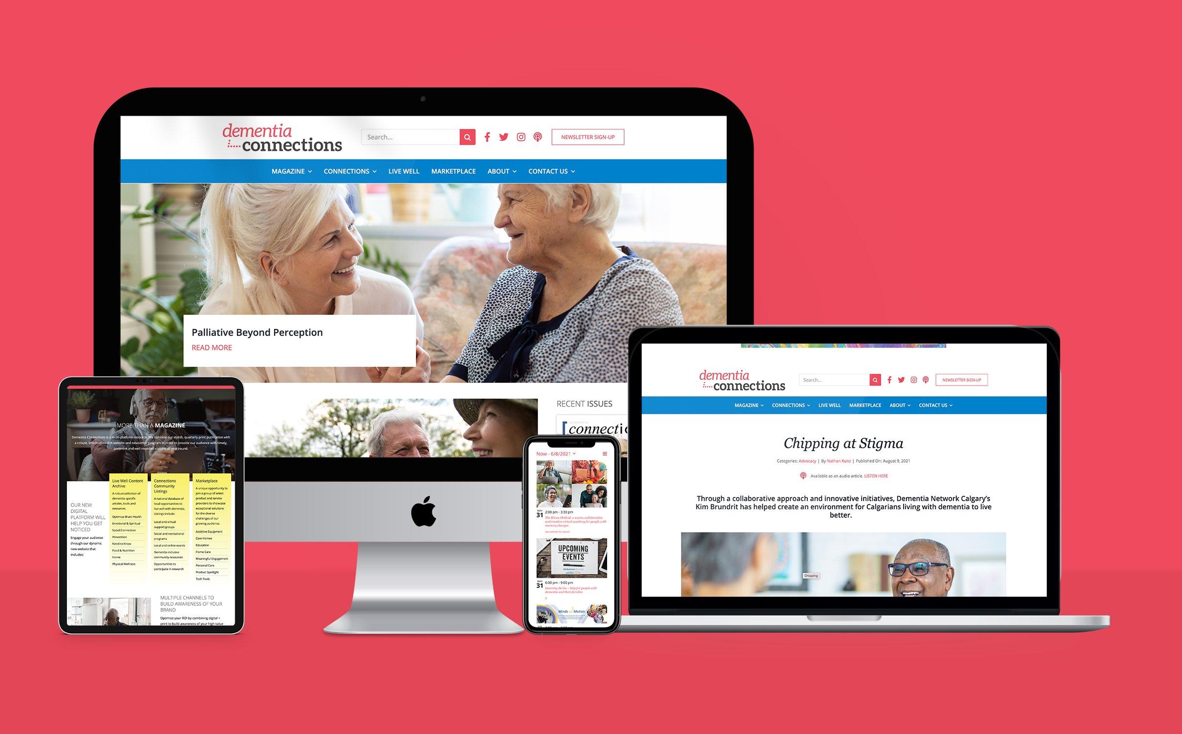 DEMENTIA CONNECTIONS - WEBSITE & E-COMMERCE